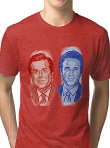 Jon Stewart and Stephen Colbert Tri-blend T-Shirt