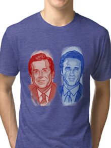 Jon Stewart and Stephen Colbert Tri-blend T-Shirt