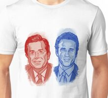 Jon Stewart and Stephen Colbert Unisex T-Shirt