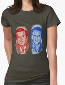 Jon Stewart and Stephen Colbert Womens Fitted T-Shirt