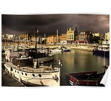 Ramsgate Harbour before the storm Poster