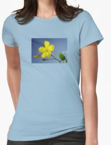Yellow Jasmine Flower and Bud Against Blue Sky T-Shirt