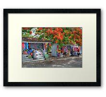 Tourist Shops at Fort Charlotte in Nassau, The Bahamas Framed Print