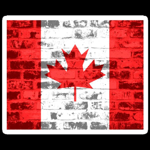 Canada Flag Vintage by Nhan Ngo