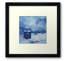 Tardis in Winterland Framed Print