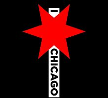 I ✶ Chicago iPhone Case (Black) by Chicago Tee