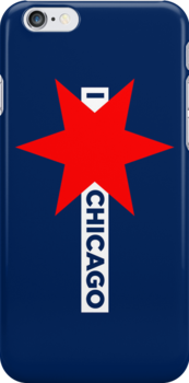 I ✶ Chicago iPhone Case (Blue) by Chicago Tee