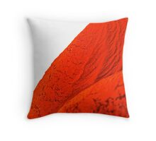 red macro rubber Throw Pillow