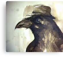 crow ink sketch Canvas Print