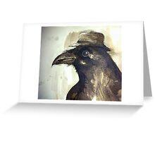 crow ink sketch Greeting Card