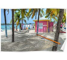 """Gloria's Place"" on Junkanoo Beach in Nassau, The Bahamas Poster"
