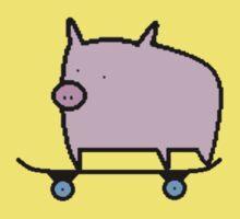 Skating Pig, Loving Life. Kids Clothes
