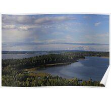 Typical Finnish scene at Lake Vesijärvi, Hollola Poster