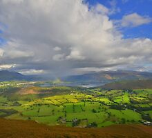 The Lake District: Light in the Sky Over Derwent Water by Rob Parsons