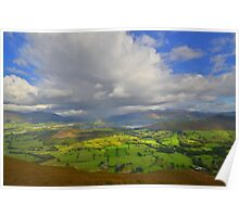 The Lake District: Light in the Sky Over Derwent Water Poster