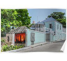Blue Hill Road in Downtown Nassau, The Bahamas Poster
