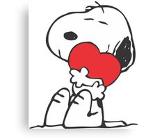 Snoopy Shares Love Canvas Print