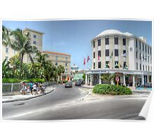 Entering Downtown Nassau from the West in The Bahamas Poster