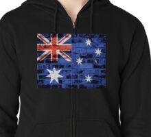 Australia Flag Vintage Zipped Hoodie