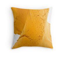 yellow twist rubber Throw Pillow