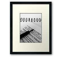 Keep with the Programme... Framed Print