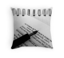 Keep with the Programme... Throw Pillow
