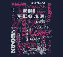 Vegan Type - pink Kids Tee