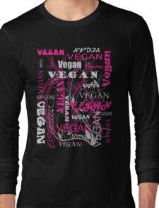 Vegan Type - pink Long Sleeve T-Shirt