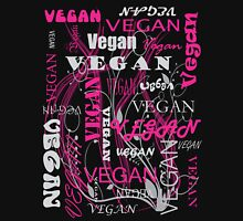 Vegan Type - pink Womens Fitted T-Shirt