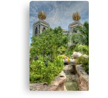 The water park at Atlantis in Paradise Island, The Bahamas Canvas Print