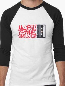 Music is the Answer Men's Baseball ¾ T-Shirt