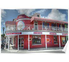Ice Cream Parlor on Bay Street in Downtown Nassau, The Bahamas Poster