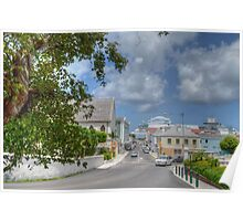 Shirley Street and Market Street in Downtown Nassau, The Bahamas Poster