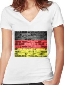 Germany Flag Vintage Women's Fitted V-Neck T-Shirt