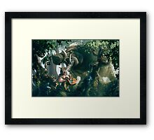 Boaring down upon you Framed Print