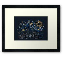 Ninja Starry Night Framed Print