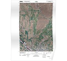 USGS Topo Map Washington State WA Ellensburg North 20110411 TM Poster