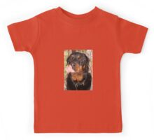 Large Male Rottweiler Licking His Lips Kids Tee