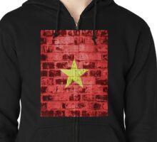Vietnam Flag Vintage Zipped Hoodie