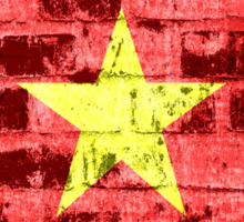 Vietnam Flag Vintage Sticker