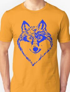 Wolf Head Blue T-Shirt