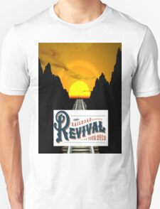 Rails Across America...Rails Across Time...2012 Railroad Revival Tour T-Shirt