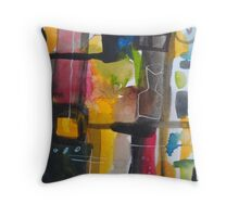 8th avenue, new york Throw Pillow
