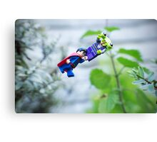 Superman To The Rescue Canvas Print