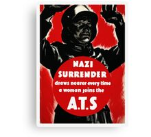 Join The A.T.S. -- WWII Propaganda Canvas Print