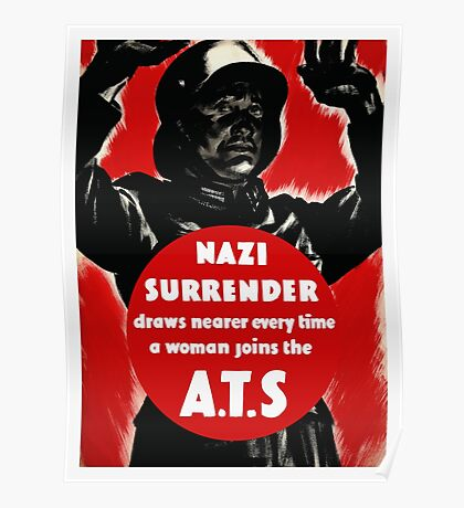Join The A.T.S. -- WWII Propaganda Poster