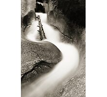 Flume in Black and White Photographic Print