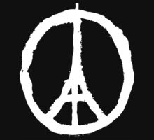 EIFFEL Tower Peace Sign Kids Clothes