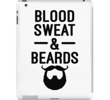 Blood, Sweat & Beards Funny Quotes iPad Case/Skin