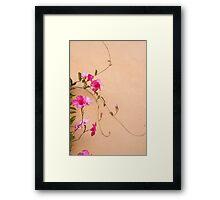 Mandevilla Moves Framed Print